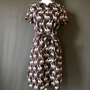 KATE SPADE ♠️ Dana Giraffe print dress